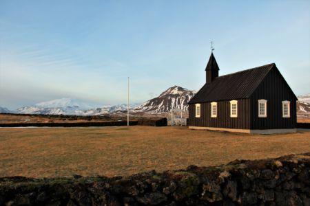 Snæfellsjökull from Búðir Church