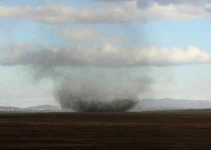 Dust tornado in the Highland