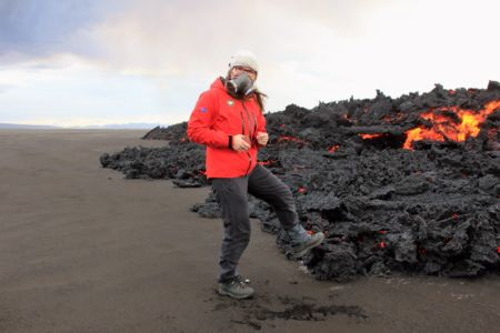 The guide in Holuhraun Lava