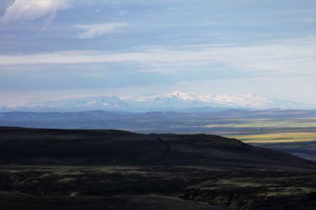 Highland view overlooking Vatnajökull Glacier