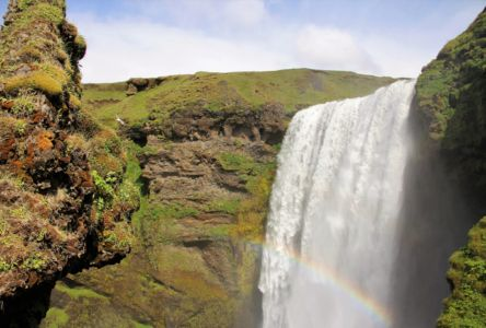 Skógafoss rainbow and Giant